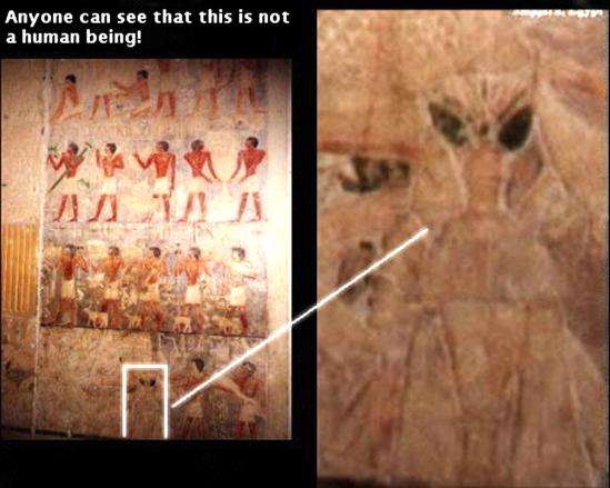 alien, ufo, pyramid