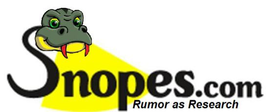 snopes .com lie's to the public